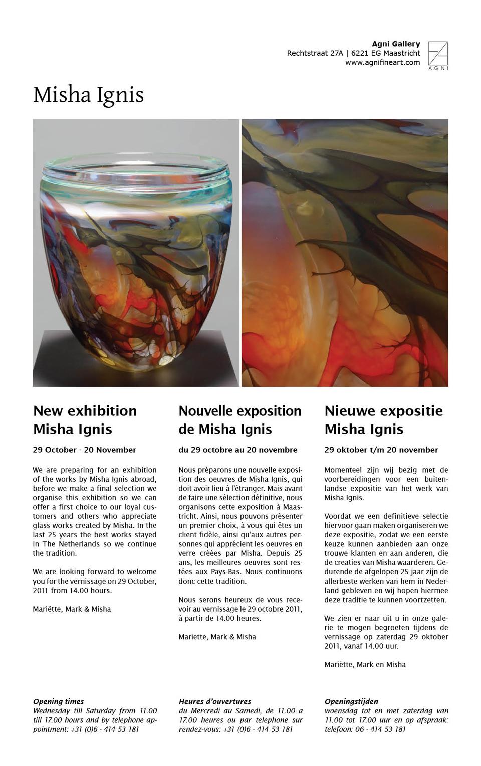 Nieuwe expositie Misha Ignis
