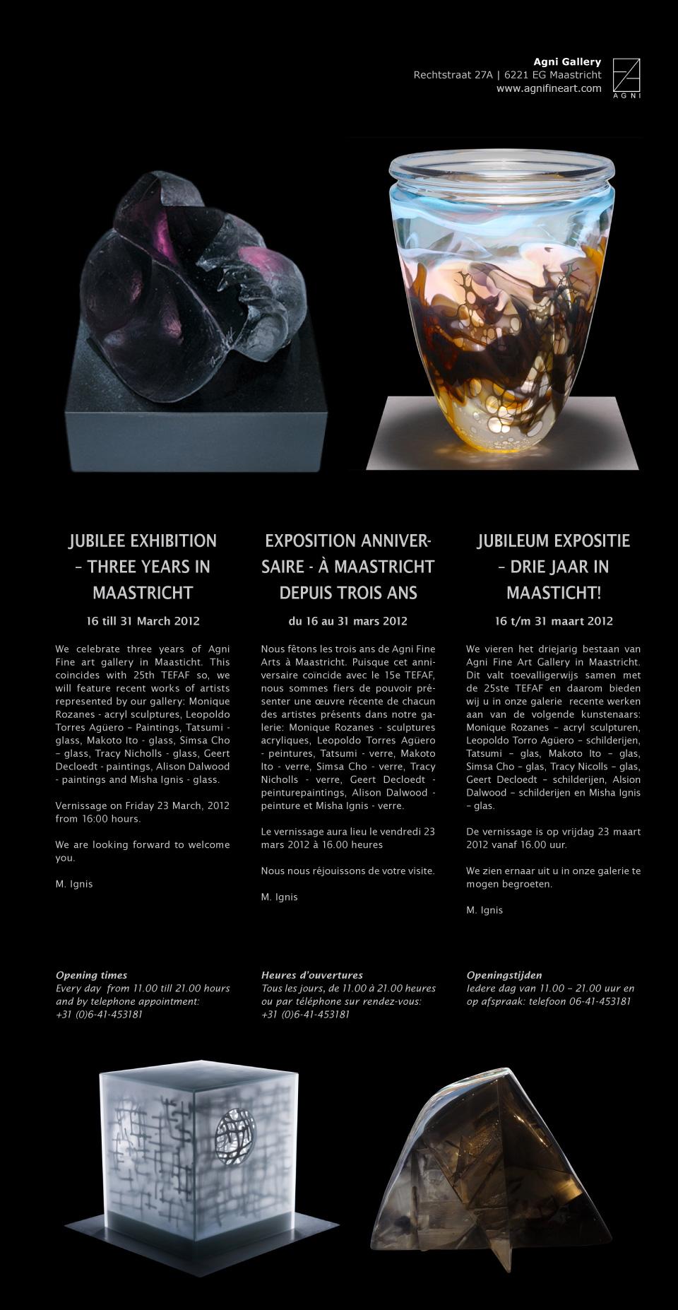 Jubileum expositie: Drie jaar in Maastricht!